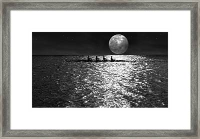 Night Crew Bw Framed Print by Laura Fasulo
