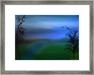 Night Falls Framed Print by Gina Lee Manley