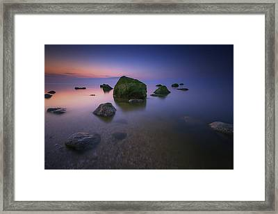 Night Falls On Long Island Sound Framed Print by Rick Berk
