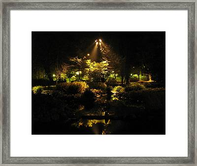 Night Garden Framed Print by Art Nomad Sandra  Hansen