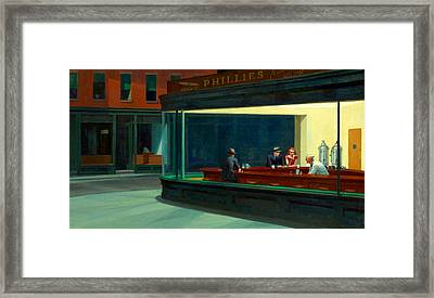 Night Hawks Framed Print by Edward Hopper