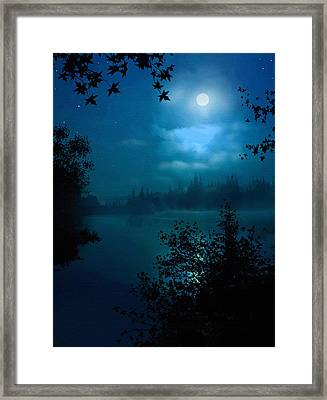 Night Lake Framed Print by Robert Foster