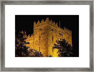 Night Lights Illuminating Bunratty Framed Print by Michael Interisano