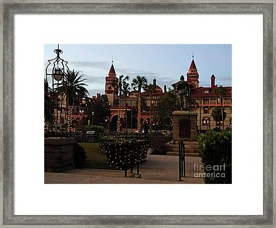 Night Of Lights In St Augustine Framed Print by D Hackett