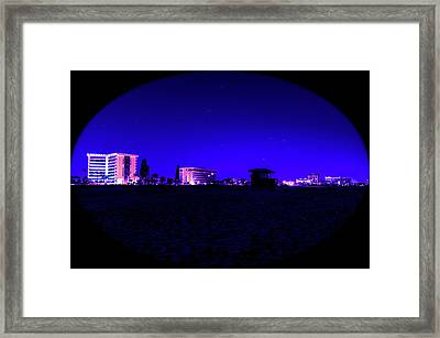 Night On The Beach Framed Print by Michael Frizzell