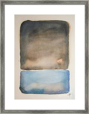 Night On The Lake Framed Print by Vesna Antic