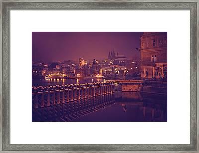 Night Prague Framed Print by Jenny Rainbow
