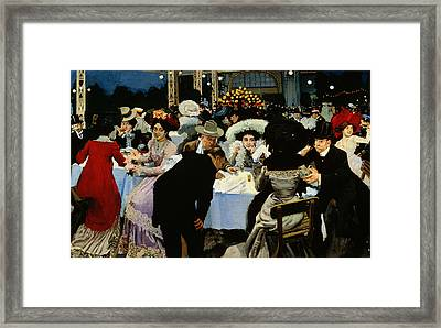 Night Restaurant Framed Print by MG Slepyan