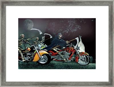 Night Riders Framed Print by Steven Agius