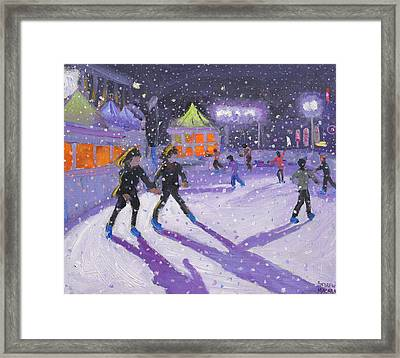 Night Skaters Framed Print by Andrew Macara