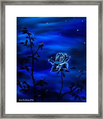 Night Stars Framed Print by Gina De Gorna