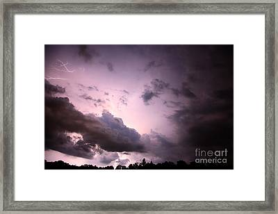 Night Storm Framed Print by Amanda Barcon