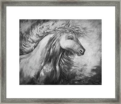Night Storm Framed Print by Art OLena