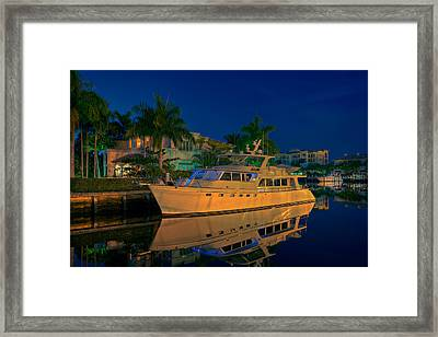 Night Time In Fort Lauderdale Framed Print by James O Thompson