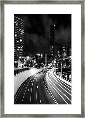 Night Time In The City  Framed Print by Parker Cunningham