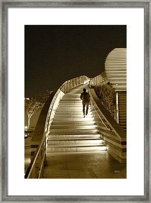Night Time Stairway Framed Print by Ben and Raisa Gertsberg