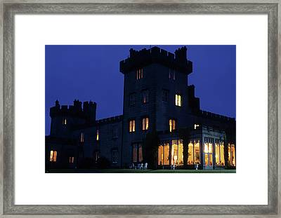 Night View Of Dromoland Castle Framed Print by Carl Purcell
