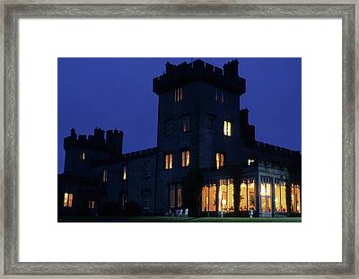 Night View Of Dromoland Castle In Ireland Framed Print by Carl Purcell