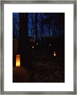 Night Walk Framed Print by Sharon Wunder Photography