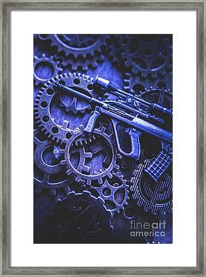 Night Watch Gears Framed Print by Jorgo Photography - Wall Art Gallery