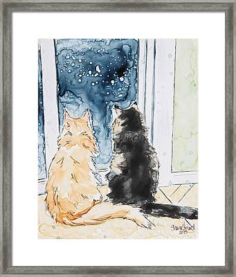Night Watchers Framed Print by Shaina Stinard
