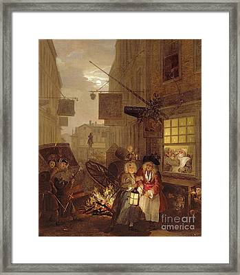 Night Framed Print by William Hogarth