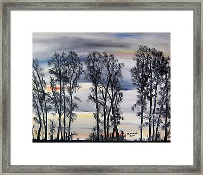 Nightfall Approaching Framed Print by Marilyn  McNish