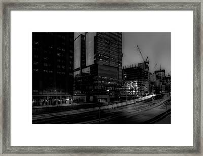 Nightfall, East River Drive Framed Print by Kenneth Laurence Neal