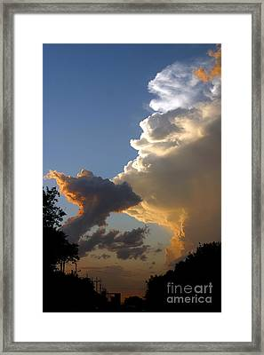 Nightly Storm Framed Print by Steve Augustin