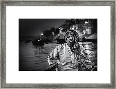Nights On The Ganges Framed Print by Piet Flour