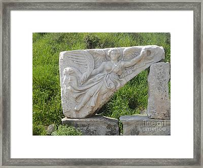 Nike Goddess Of Victory Framed Print by Parisa Maesumi