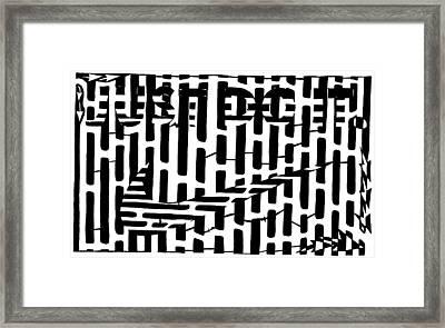 Nike Maze Framed Print by Yonatan Frimer Maze Artist