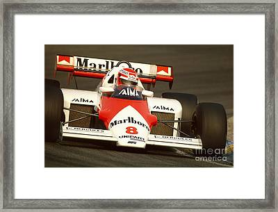 Niki Lauda. 1984 Dutch Grand Prix Framed Print by Oleg Konin