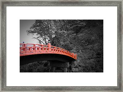 Nikko Red Bridge Framed Print by Naxart Studio