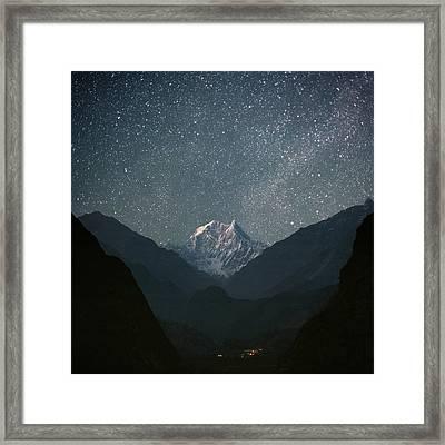 Nilgiri South (6839 M) Framed Print by Anton Jankovoy