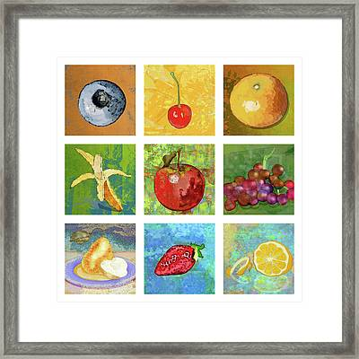 Nine Ripe Fruit Framed Print by Mary Ogle