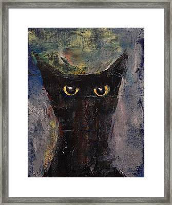 Ninja Cat Framed Print by Michael Creese