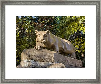 Nitany Lion In Fall Framed Print by William Ames