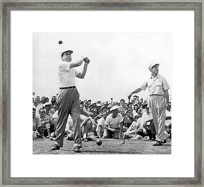 Nixon Tees Off Framed Print by Underwood Archives