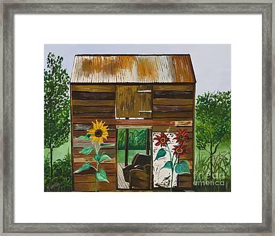 Nj Barn Framed Print by Sweta Prasad