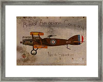 No. 6 Squadron Bristol Aeroplane Company Framed Print by Cinema Photography