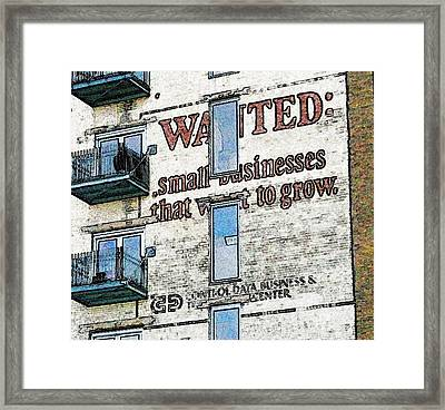 No Longer Wanted Framed Print by Rashelle Brown