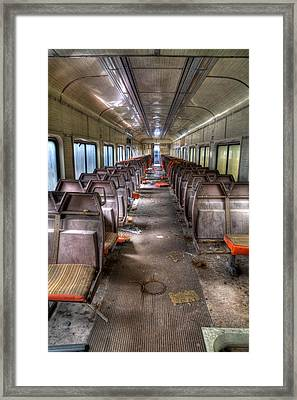 No More Parties On This Train Framed Print by David Patterson