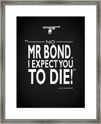 No Mr Bond Framed Print by Mark Rogan