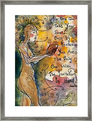 No One Can Take Your Soul Framed Print by Ilisa  Millermoon