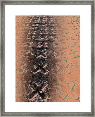 No O's - Negative In Copper Framed Print by Caitlyn  Grasso