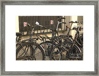 No Parking Framed Print by Andy Smy