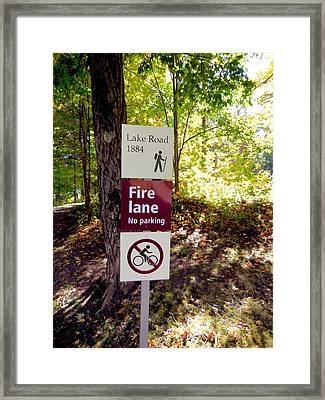 No Parking Fire Lane Sign   Framed Print by Lanjee Chee