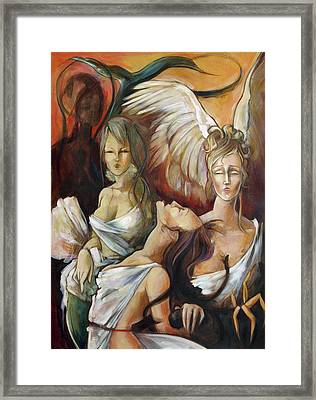 No Rest For Hera's Wicked Framed Print by Jacque Hudson