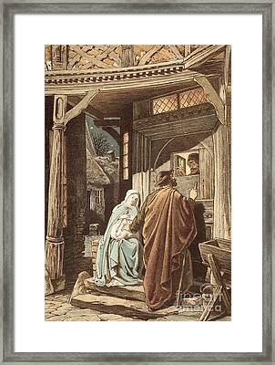 No Room At The Inn Framed Print by Victor Paul Mohn